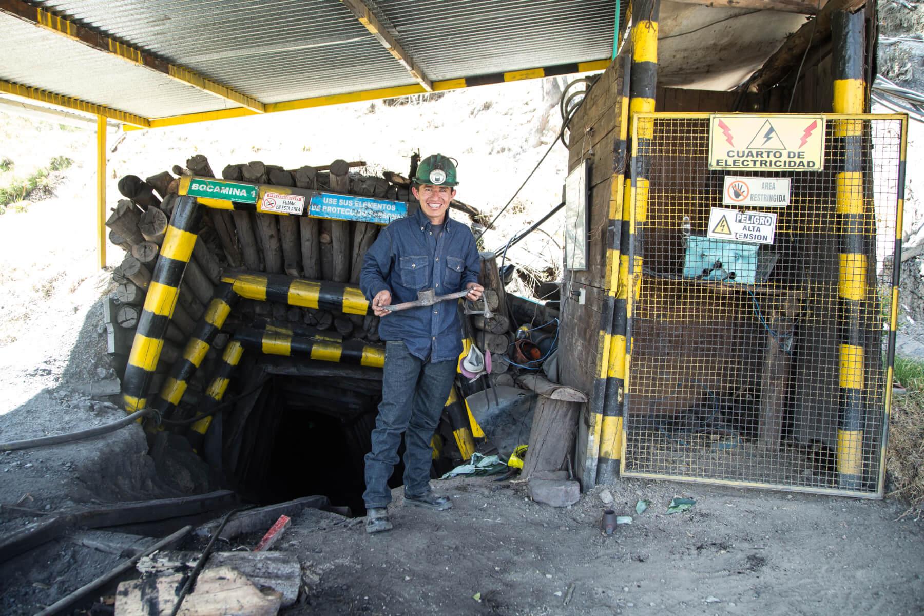 Daniel Humberto Rodríguez, minero en Tópaga, Boyacá, Colombia.  (c) ARM
