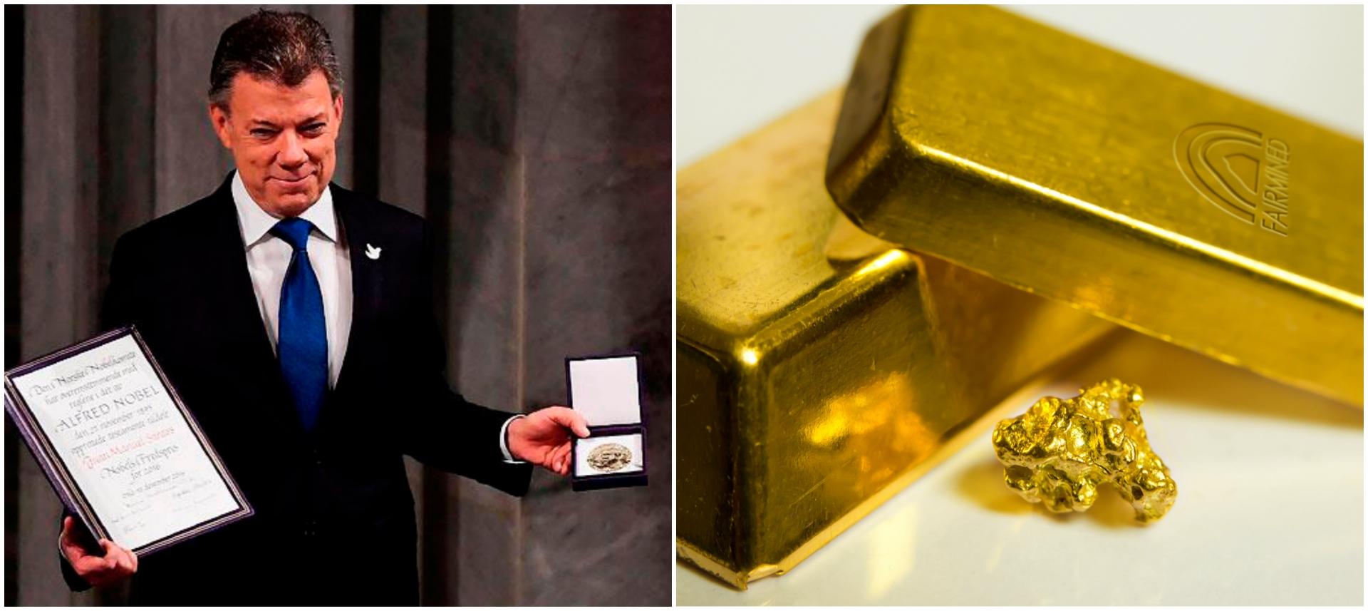 El oro colombiano Fairmined brilla en la entrega del nobel de paz