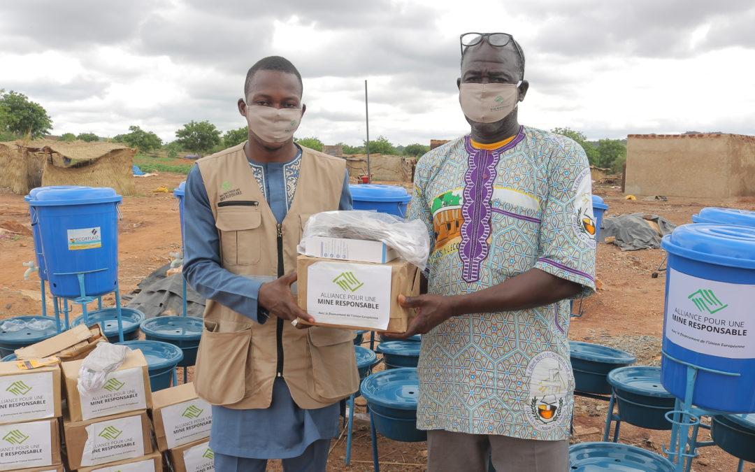 COVID-19 au BURKINA FASO : L' Alliance pour une Mine responsable (ARM) tend la main aux artisans miniers.