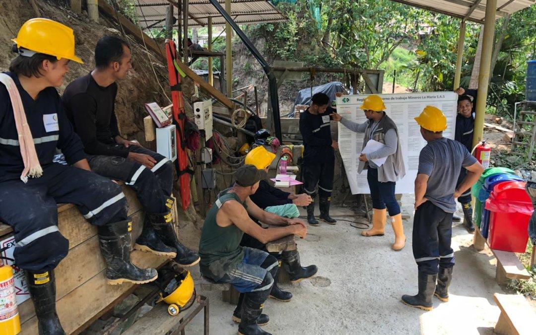 Se avanza en planes de mejoramiento participativos con mineros de Paipa y San Roque, Colombia